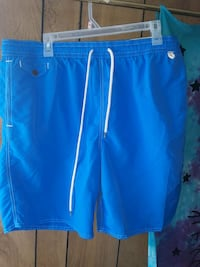 Blue & Yellow Polo XXL Swim Trunks