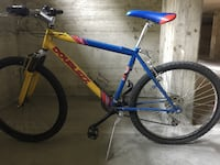 Mountain bike rossa e blu hardtail Basiglio, 20080