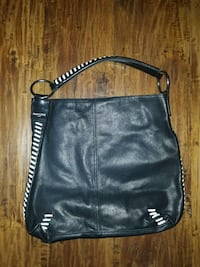black leather Michael Kors crossbody bag