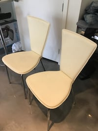 Two modern dining chairs  Vancouver, V5V 1E7
