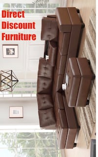 brown leather sectional sofa screenshot Houston, 77009