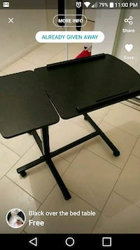 black and gray folding table Abbotsford