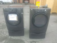 two black front-load clothes washer and dryer set Manassas