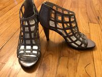 """New silver glittery shoes heels 3"""" New York, 11235"""