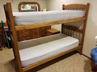 Bunk bed with mattresses, foam pads, and flannels Picnic Point-North Lynnwood