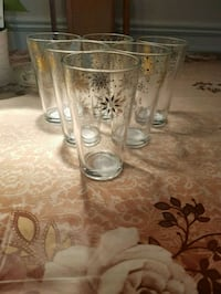 New Set of 6 tall glasses.  From a clean and smoke free home London, N6C 4W2