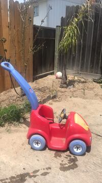 red and blue plastic ride on toy Lompoc, 93436