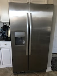 Whirlpool Stainless steel side by side refrigerator. Mount Airy, 21771