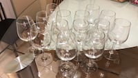 14 wine glasses never used heavy duty