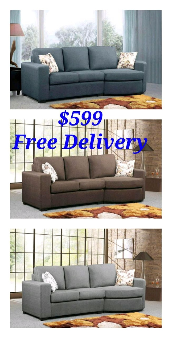 Sectional With Round Chaise Or Bumper