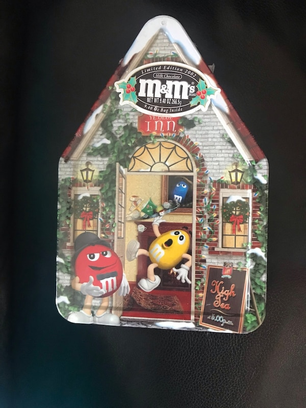 Collectible M&M's Christmas village Tin