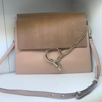 beige leather crossbody bag