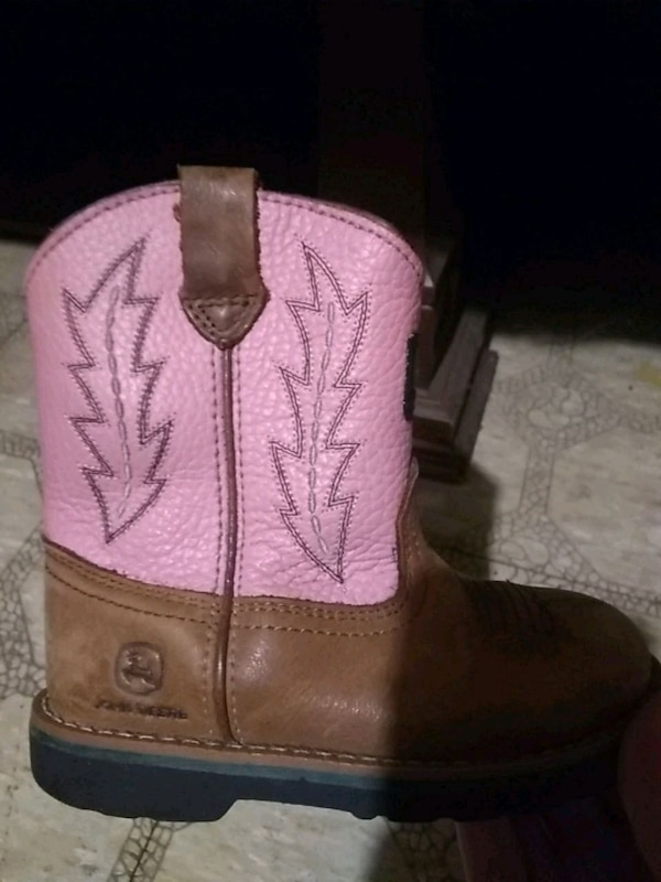 17feccf1ca9 Little girls John Deere cowboy boots