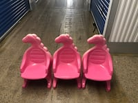Pink dinosaur chairs Sterling, 20166