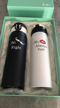 Brand New His & Her Beverage Canisters