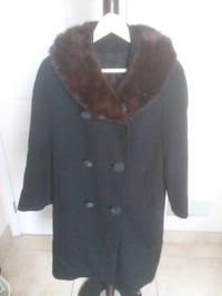 "'Vintage' Woman's Coat -French Woolen - Real Mink Collar and matching Hat. Made by ""Blin and Blin""."