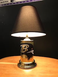 Black and brass table lamp with black  shade Nottingham, 21236