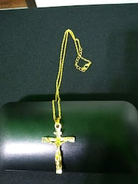Gold plated chain with Jesus on the cross pendant