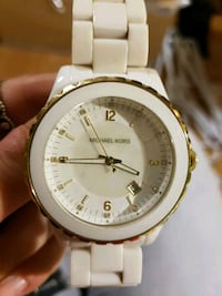 White ceramic and yellow gold Michael Kors watch Newmarket, L3Y 1E3