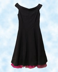 Sz M Black Party Dress with Tulle Eugene