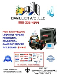 HVAC REPAIR A/C (AIR CONDITIONING) New Orleans