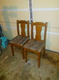 two brown wooden framed gray padded chairs Porters Lake, B3E 1M2