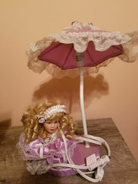porcelain doll themed umbrella table lamp Charlottesville, 22901