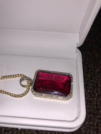 Diamond ruby chain pendant and chain  Toronto, M3C 2Z6
