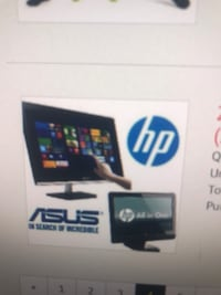2 all in one PC- Asus and HP. Broken screens  Mississauga, L5N 7W9