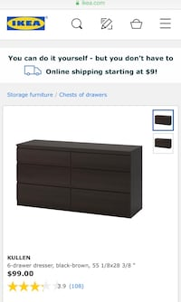 black wooden 6-drawer dresser screenshot 2282 mi