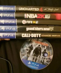 Ps4 games Mississauga, L5A
