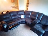 reclining sectional w/3 piece table set. OBO. selling asap.make  offer West Des Moines