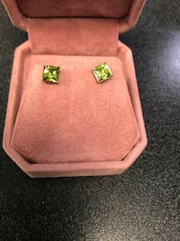 Peridot Earrings (Studs)New Toronto