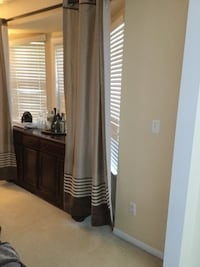 Beautiful set of long curtains neutral tones  Canton, 48188