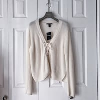 FOREVER 21 CREAM KNITTED SWEATER. Toronto, M4S