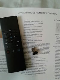 Remote control with voice Input.  Bluetooth for pc, Android TV, htpc