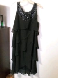 black ruffled dress great for Christmas parties. s Edmonton, T5K 2A6