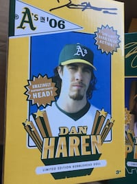 Dan Haren limited edition bobblehead doll box Fremont, 94538
