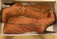 Michael Kors brown leather knee-high boots 9.5 Vancouver, V5S 4P6