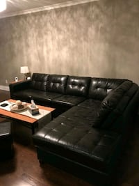 Leather sectional sofa and coffee table Toronto, M9V 1K1