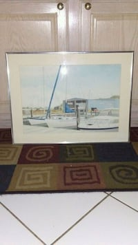 """BOATS IN DOCK""...PICTURE 24""L/18""H Ocean County, 08731"