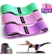 3 Fabric Resistance Band Set NEW