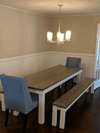 Wood Kitchen Table With Benches Salt Lake City, 84106