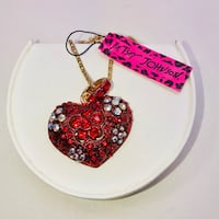 """Betsey Johnson """"LOVE IS IN THE AIR!"""" Large red embellished heart necklace. NEW! Carrollton, 75007"""