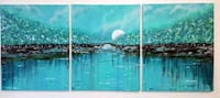 48x20 inches abstract landscape painting set of 3 Vaughan, L4L 2S6
