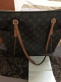 black and brown Louis Vuitton leather tote bag North Las Vegas, 89031