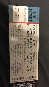 Daymond Johns secuss team VIP ticket Ashburn, 20148