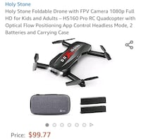 (New) HolyStone app controlled drone 1080P Camera