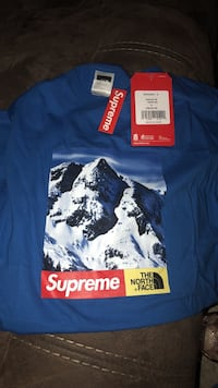 blue Supreme x The North Face crew-neck t-shirt