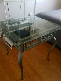 2 table and glass